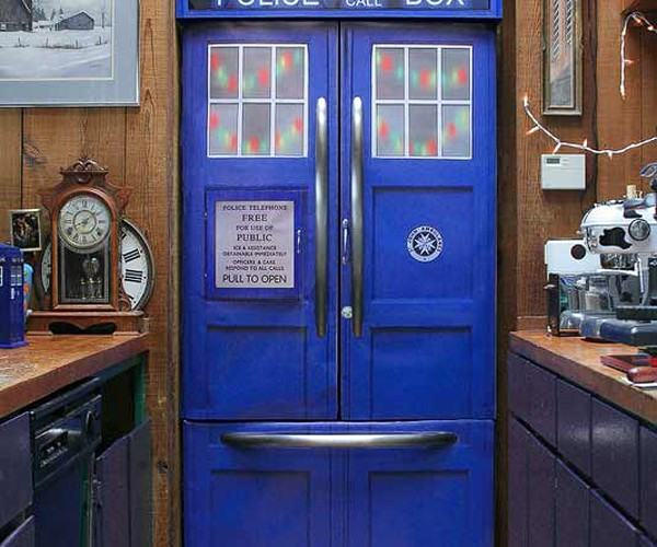 Police Box Kit Makes Your Fridge Cooler on the Outside