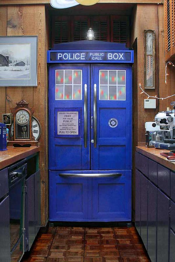 tardis police box refrigerator kit