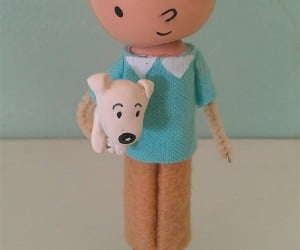 tin tin snowy clothespin doll 300x250