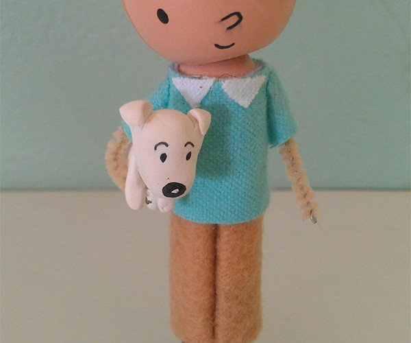 tin_tin_snowy_clothespin_doll