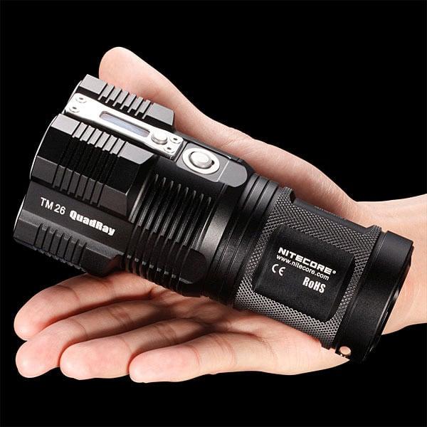 NiteCore TM26 Tiny Monster Flashlight Kicks out Insane 3500 Lumens - Technabob