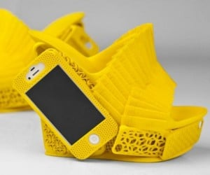 3D-Printed Wedges Have an iPhone Case on Their Heels