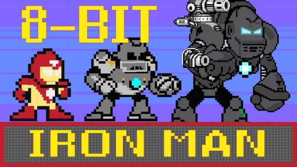 An Animated 8-Bit Re-telling of 'Iron Man' in 60 Seconds