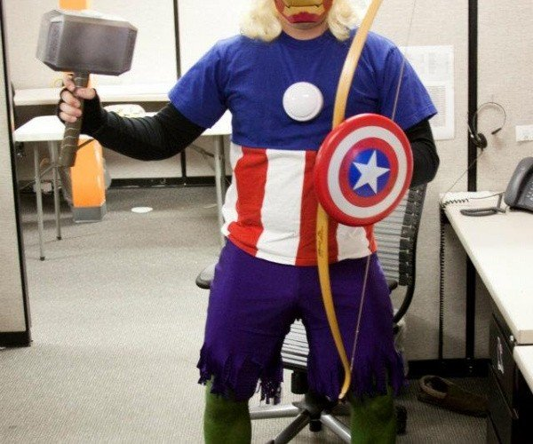 Avengers Assemble in All-in-one Cosplay