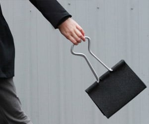 Giant Office Binder Clip Purse Looks Like It Should Hold a Very Thick Stack of Papers