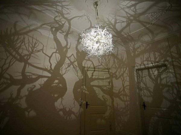 Chandelier Turns Your Room into a Forest - Technabob