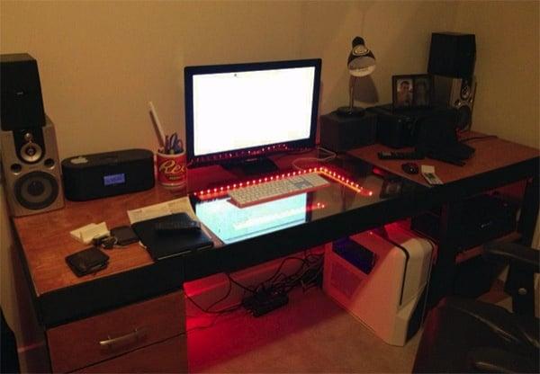 Infinity Mirror Computer Desk