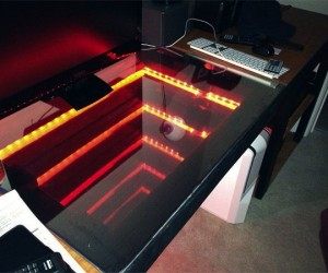 Infinity Mirror Computer Desk: To Infinity and Beyond!