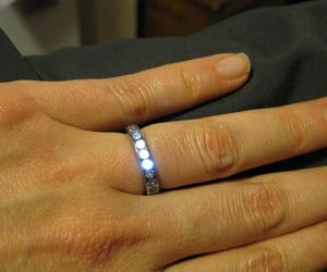 Engagement Ring with LEDs: You Light Up My Life. And Finger.