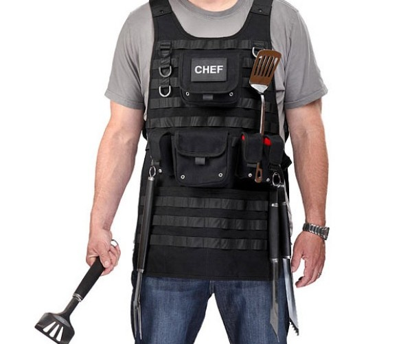 Tactical BBQ Apron: Arm Yourself With Your Arsenal of BBQ Utensils