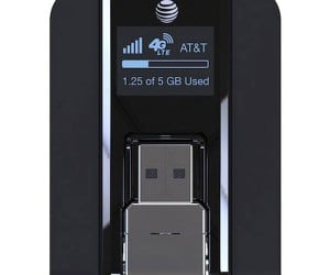 AT&T Beam 4G USB Modem Shows Data Usage at a Glance