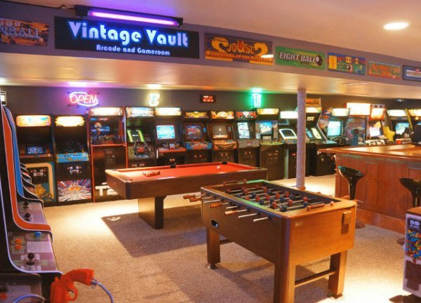 Father and Son Create Amazing Basement Arcade: No Quarters Required