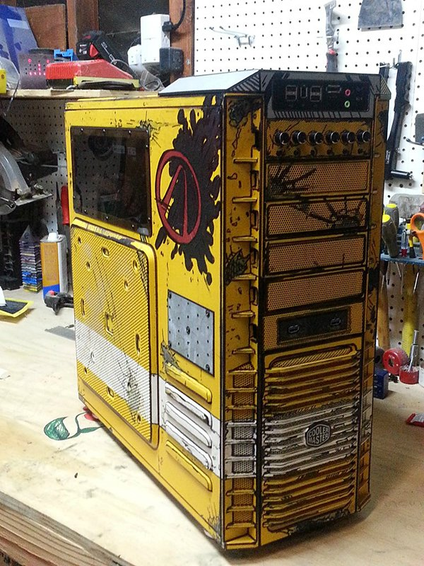 borderlands 2 pc case mod by crazylefty