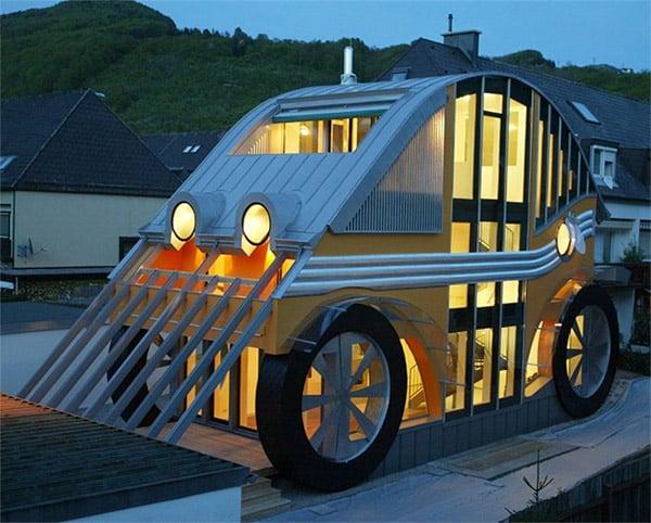Car-shaped House: I Call Shotgun - Technabob