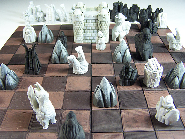 3D Printed Cyvasse Set: a Game of Keeps and Mountains - Technabob