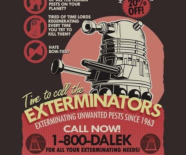 Dalek Pest Extermination Services T-Shirt: Fumigate! Fumigate!