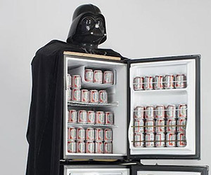 Darth Vader Beer Fridge: Use the Frost, Luke!