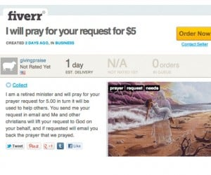Need Some Spiritual Help? Pay This Retired Minister $5 and He'll Pray For You