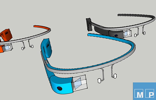 google glass frame 3d model by sunny gao