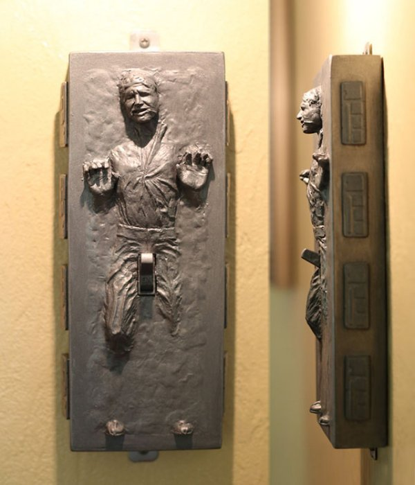 Han Solo in Carbonite Light Switch: Flick His Switch and Turn Him on - Technabob