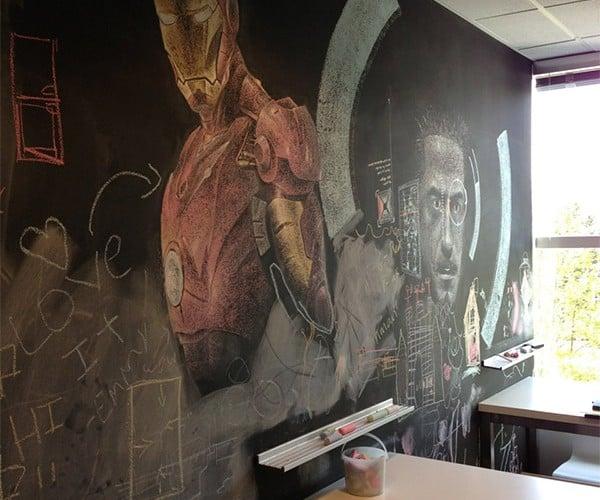 Iron Man Chalkboard Art: Tony Stark? More Like Tony Chalk