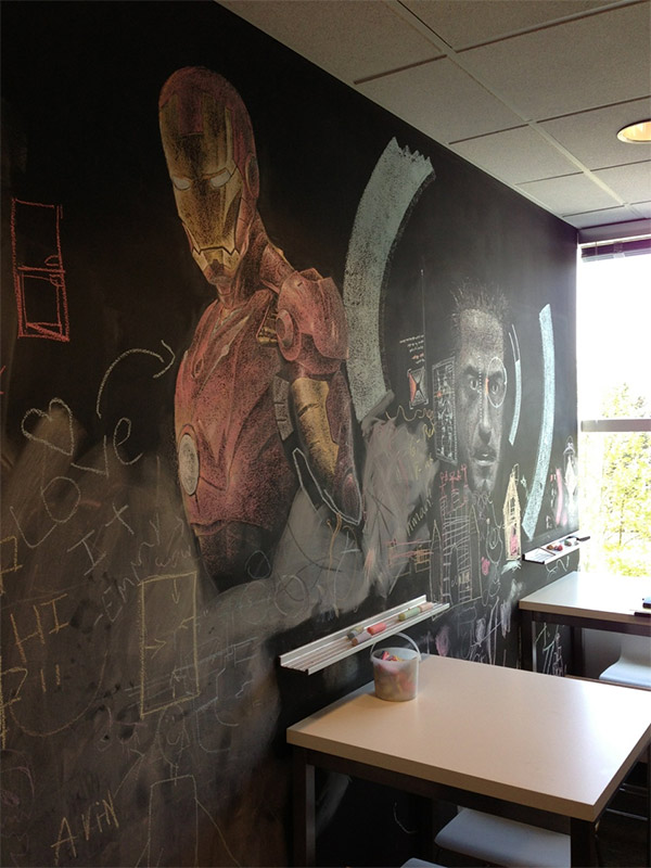 Iron Man Chalkboard Art Tony Stark More Like Tony Chalk