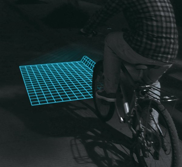 lumigrids led lights bicycle riding photo