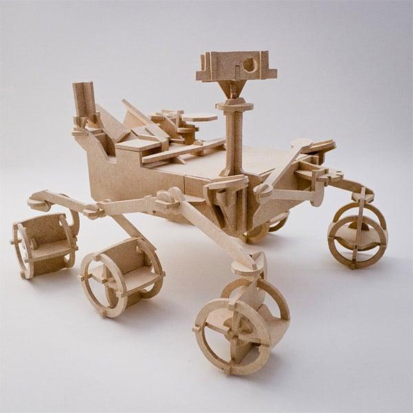 mars rover wood model 1