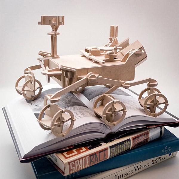 mars rover wood model 2