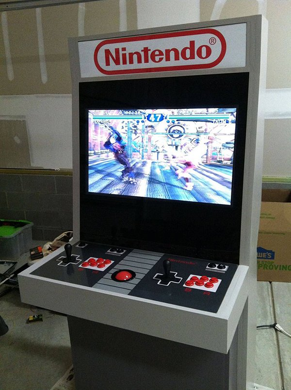 nintendo nes arcade cabinet by mystery smelly feet