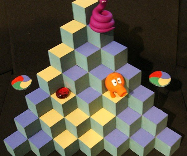 Q*Bert Playable Diorama: What the !@$%!^?