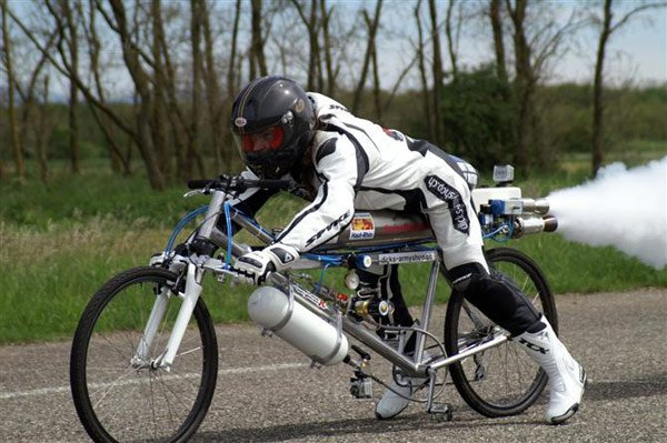 rocket powered bicycle francois gissy photo
