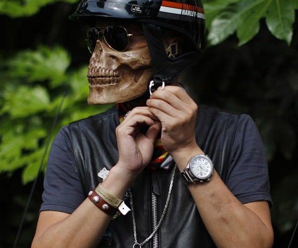 Skull-faced Biker Helmet Turns You into Ghost Rider