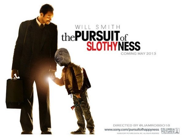 Slothywood: Reworked Movie Posters Starring Sloths