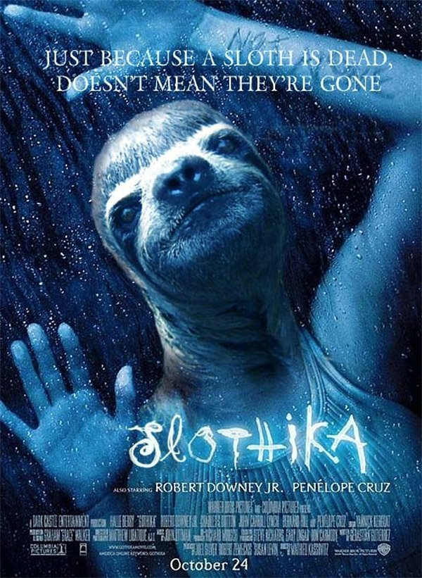 Slothywood Reworked Movie Posters Starring Sloths