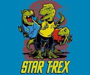 Star T-Rex T-Shirt: To Boldly Go Where No Dinosaur Has Gone Before