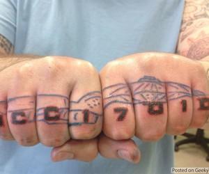 Star Trek Knuckles Tattoo: All Hands on Deck