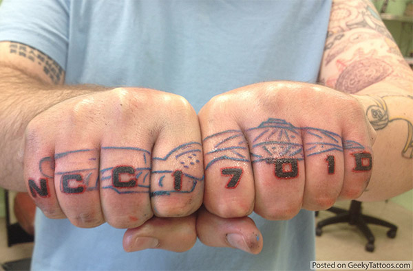 Star Trek Knuckles Tattoo: All Hands on Deck