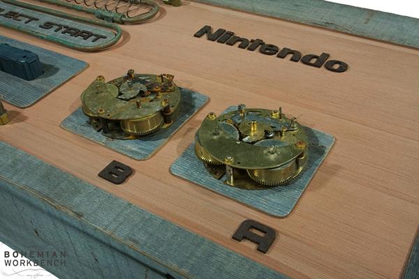 Steampunk Nintendo Controller Coffee Table NESSSS Technabob
