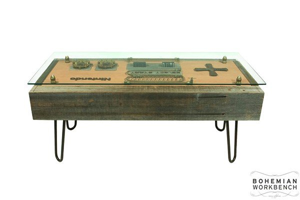 steampunk nintendo controller coffee table: nessss - technabob