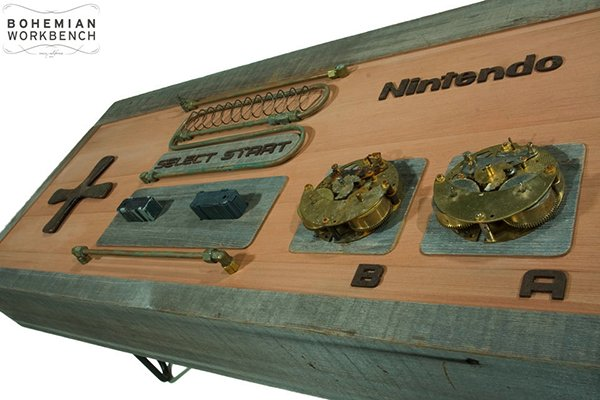 steampunk nintendo nes controller coffee table by bohemian workbench
