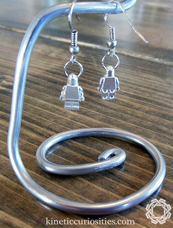 sterling lego minifig earrings