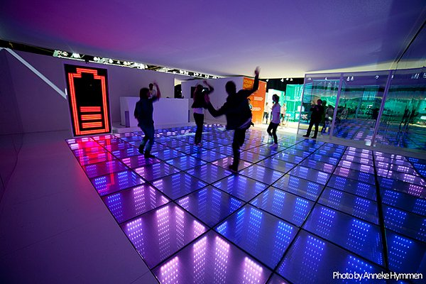 sustainable dance floor by sustainable dance club