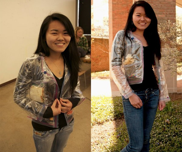 Girl Makes Ziploc Bag Jacket, Vows to Never Be Hungry Again