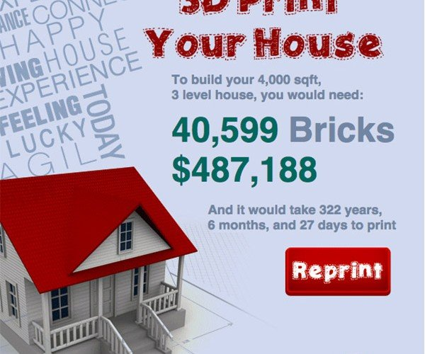 How Much Would it Cost to 3D Print Your House?