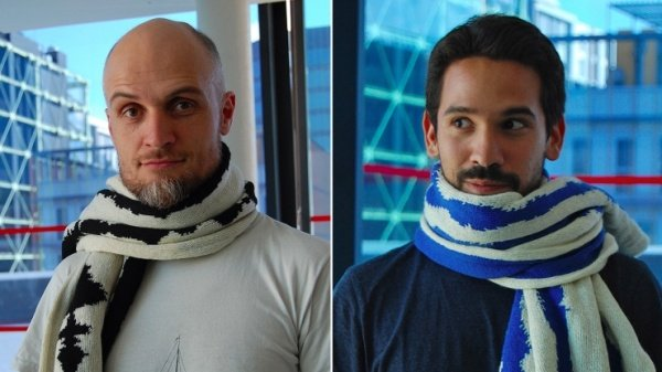 Neuro Knitting's Scarves Will Cover Your Neck in Brain Waves - Technabob