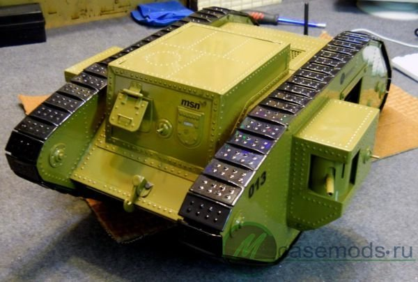 Mk-4 Tank PC Case Mod: Tanks A Lot