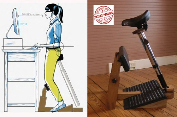 Standing Task Chair Lets You Sit While You're Using Your Standing Desk