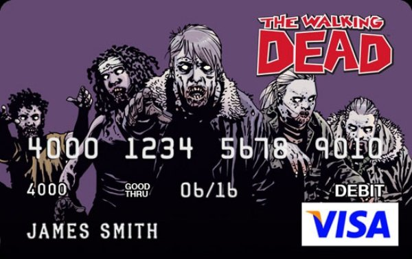 Walking Dead Credit Card1