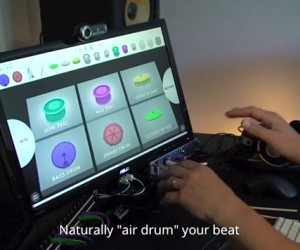 Leap Sensor Virtual Drum Machine: AirBeats